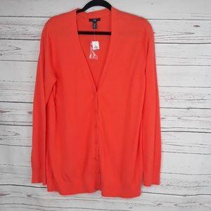 100% cotton NWT gap cardigan blood orange color XL